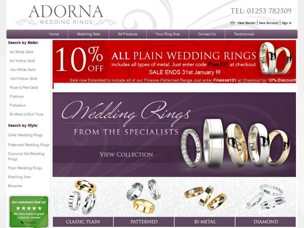 adorna wedding rings