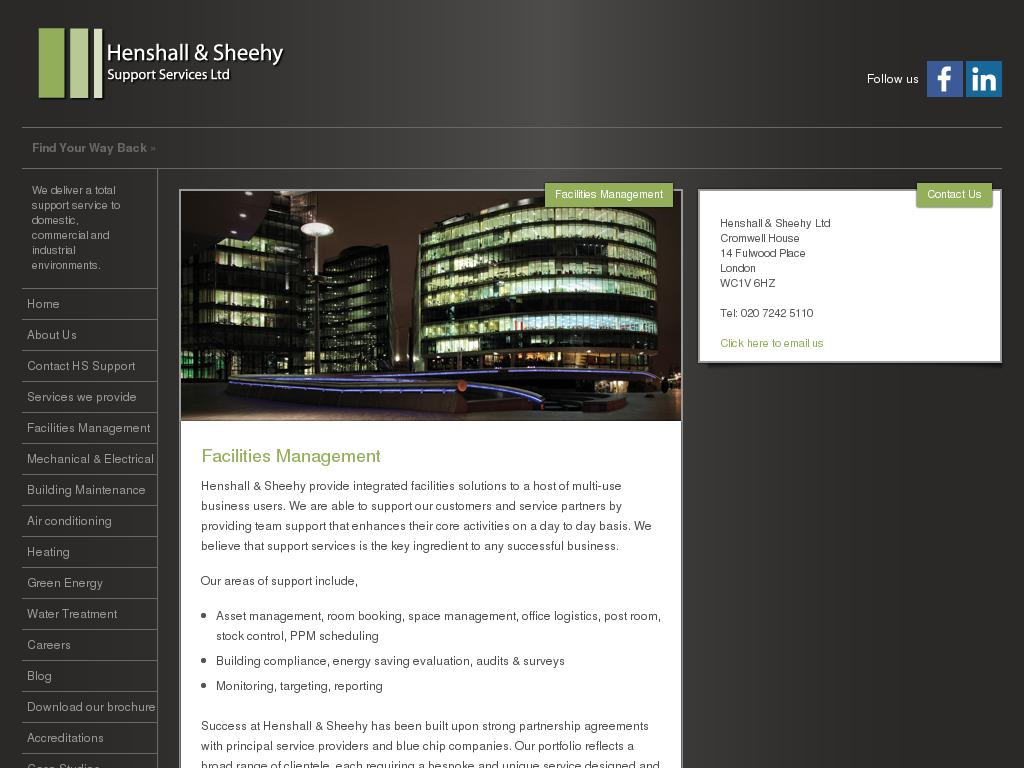 Henshall & Sheehy Support Services Ltd