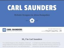 Carl Saunders Website Design