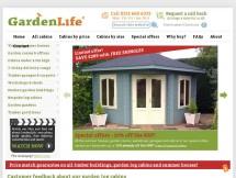 Garden life log cabins